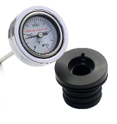 99-06 TC  Wht Air Filled, Engine Oil Temp Gauge, all FLs