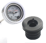 99-06 TC Wht OIL FILLED, Engine Oil Temperature Gauge ,All FLs