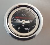 "Indian Chief ""BLK Oil filled"" Temp Gauge  14-Pres."